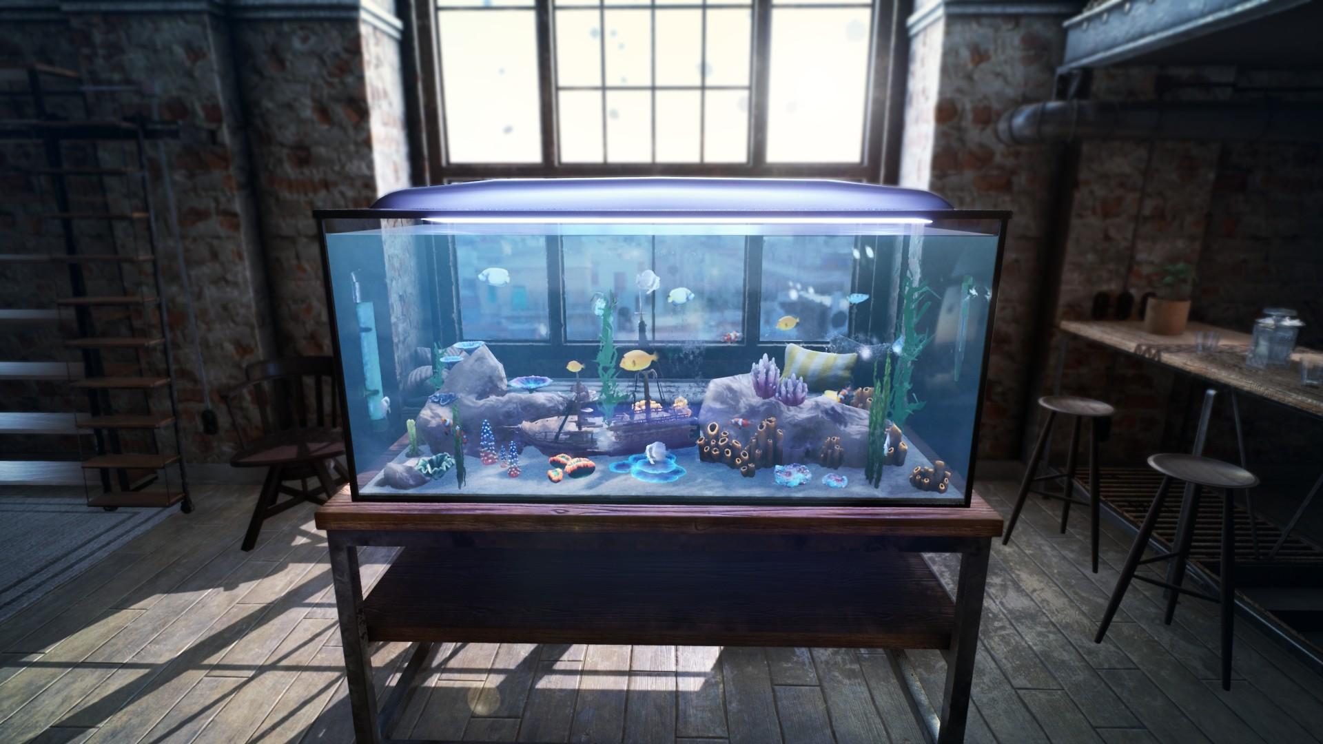 休闲养鱼新作《水族箱模拟器》玩法预告片欣赏