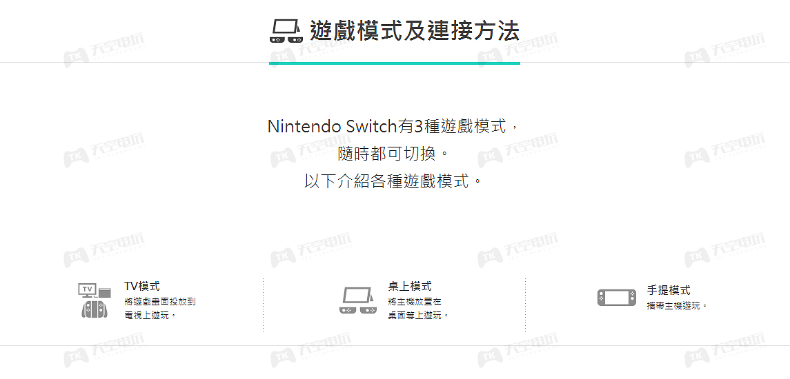 NS SWITCH 【TV模式及连接】