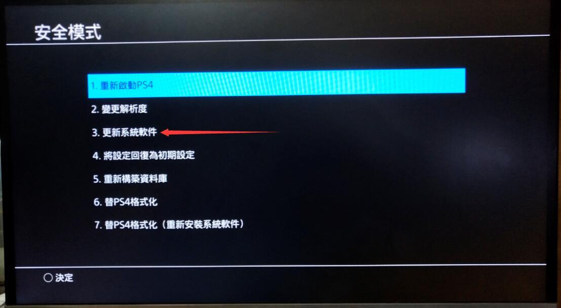 PS4如何离线更新系统