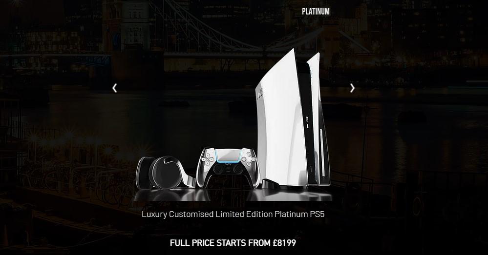 英国厂商推出定制镀金PS5 7999英镑起 包邮国内