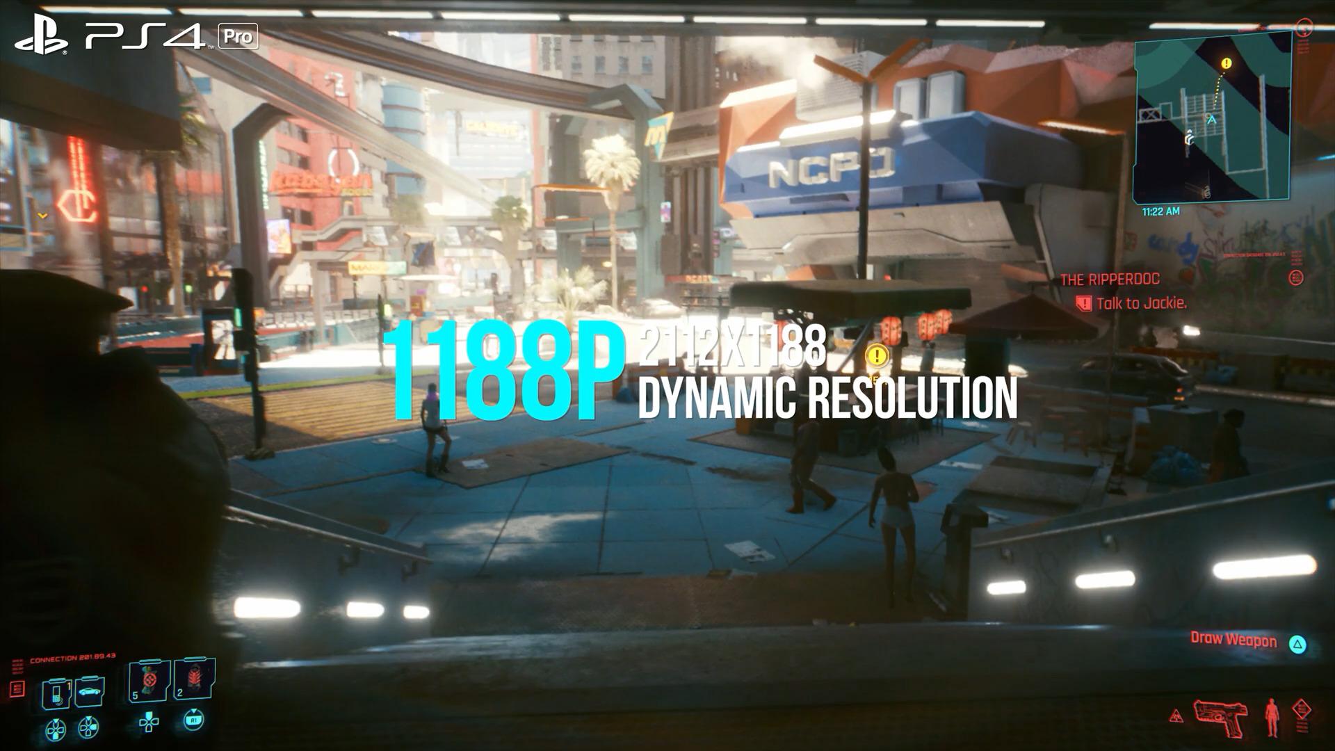 数毛社《赛博朋克2077》PS4/Pro版画面分析 勉强能玩